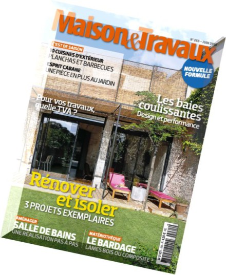 download maison travaux n 265 juin 2015 pdf magazine. Black Bedroom Furniture Sets. Home Design Ideas