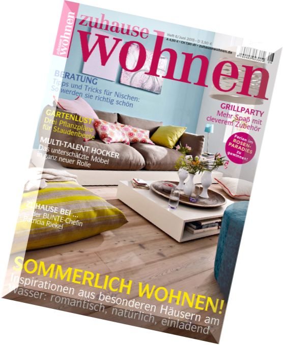 download zuhause wohnen juni 2015 pdf magazine. Black Bedroom Furniture Sets. Home Design Ideas