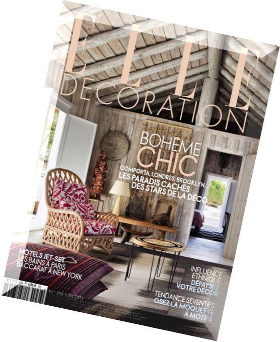 Download elle decoration france juin 2015 pdf magazine for Elle decoration france