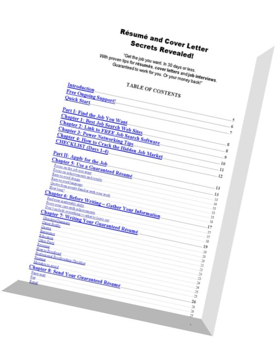 Resume And Cover Letter Secrets Revealed Pdf How To Make A Cover ...