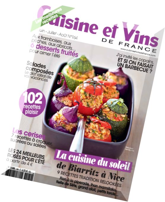 download cuisine et vins de france n 164 juin juillet 2015 pdf magazine. Black Bedroom Furniture Sets. Home Design Ideas