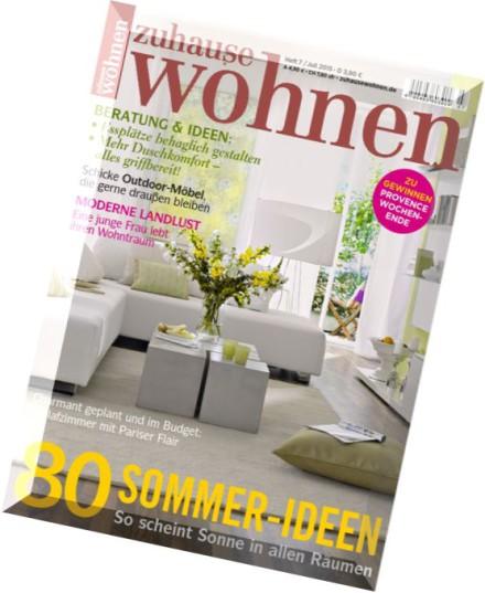 download zuhause wohnen juli 2015 pdf magazine. Black Bedroom Furniture Sets. Home Design Ideas