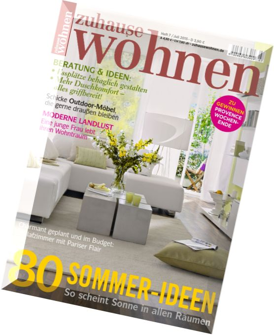 download zuhause wohnen juli 2015 pdf magazine. Black Bedroom Furniture Sets. Home Design Ideas