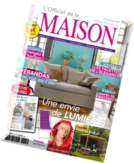 download l officiel de la maison n 15 printemps 2015. Black Bedroom Furniture Sets. Home Design Ideas