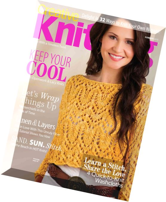 Knitting Summer 2015 : Download creative knitting summer pdf magazine