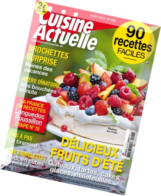 Download cuisine actuelle aout 2015 pdf magazine for Cuisine actuelle