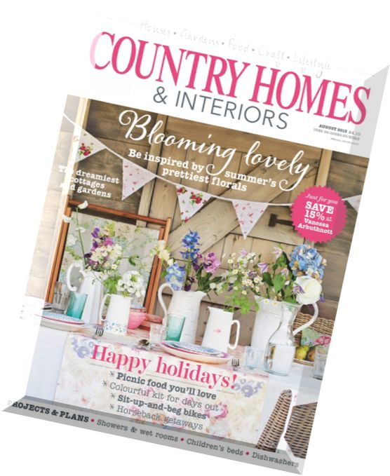 Download Country Homes Interiors August 2015 Pdf Magazine