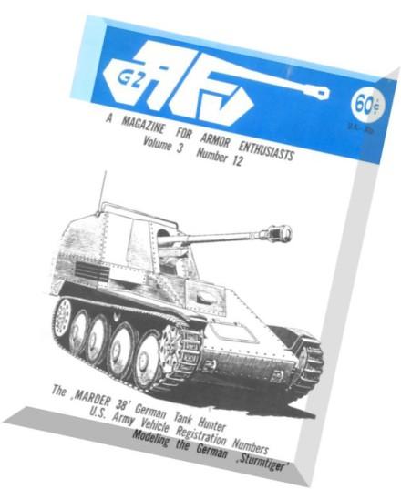 1972 AFV-G2 MILITARY VEHICLES MAGAZINE Vol.3 #9,bianchi 40/50 hp,m-48a3 tank