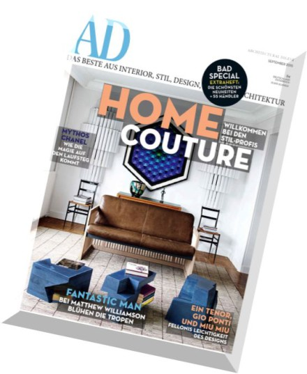 download ad architectural digest germany september 2015 pdf magazine. Black Bedroom Furniture Sets. Home Design Ideas