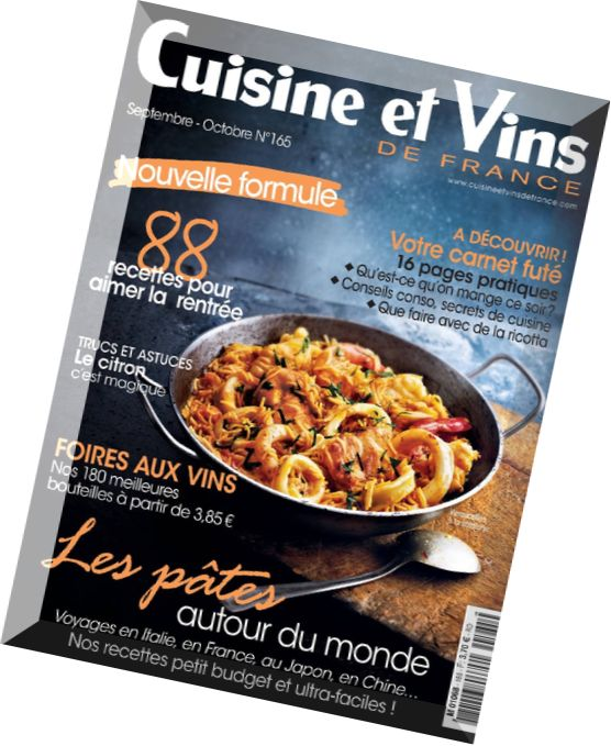 download cuisine et vins de france septembre octobre 2015 pdf magazine. Black Bedroom Furniture Sets. Home Design Ideas
