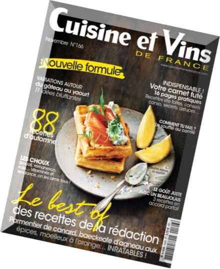 download cuisine et vins de france novembre 2015 pdf magazine. Black Bedroom Furniture Sets. Home Design Ideas