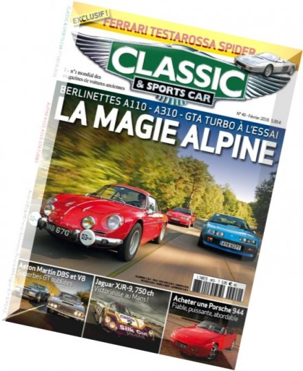 download classic sports car france fevrier 2016 pdf magazine. Black Bedroom Furniture Sets. Home Design Ideas