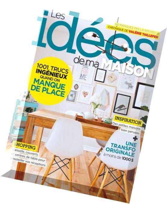 Download Les Idees De Ma Maison Avril 2016 Pdf Magazine