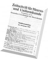 Zeitschrift - fur Heeres - und Uniformkunde N 162-166 1959
