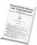 Zeitschrift fur Heeres- und Uniformkunde - N 140-145, 1955