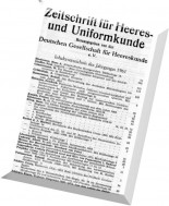 Zeitschrift - fur Heeres - und Uniformkunde N 173-178 1961