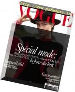 Vogue Paris - Octobre 2016