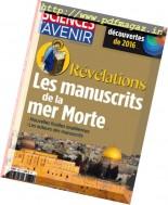 Sciences et Avenir - Janvier 2017