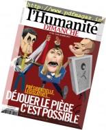 L'Humanite Dimanche - 23 au 29 Mars 2017