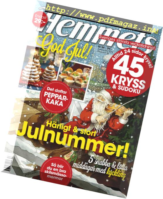 Download Hemmets Veckotidning – 04 december 2018 - PDF Magazine