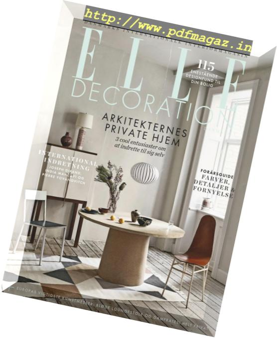 Download Elle Decoration Denmark Marts 2019 Pdf Magazine