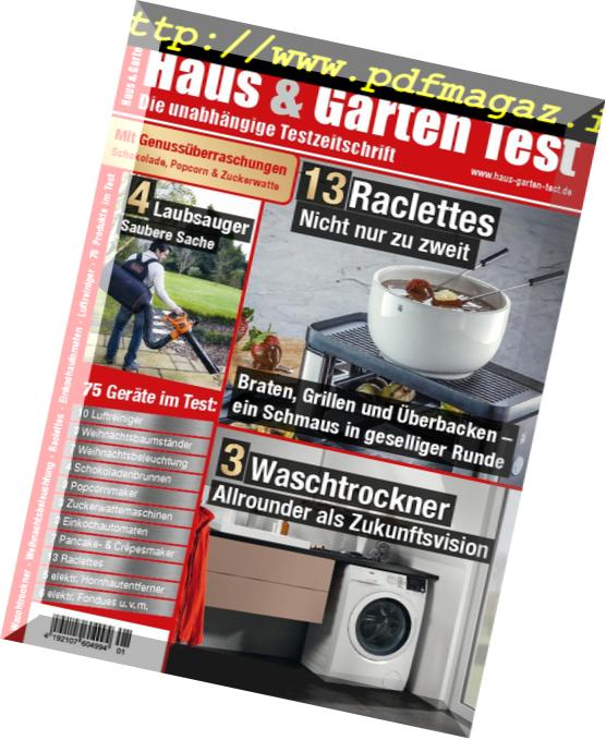 Download Haus & Garten Test – Januar 2019 - PDF Magazine