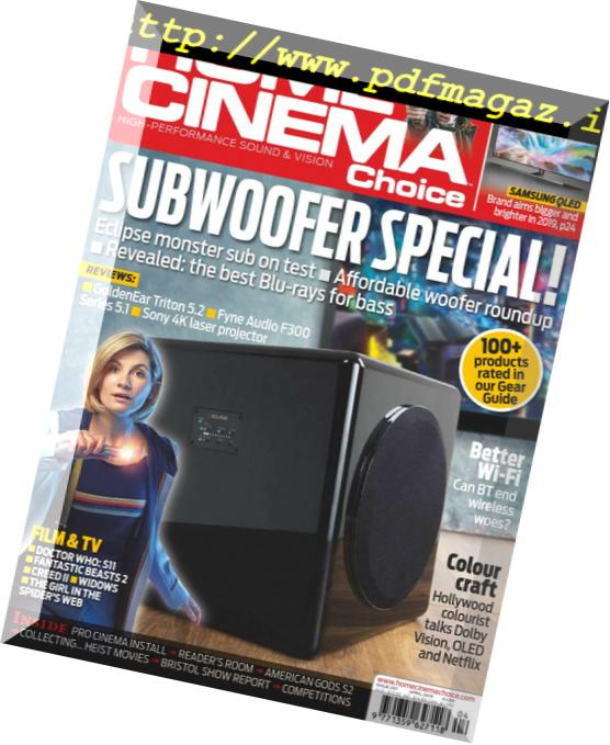 Download Home Cinema Choice – April 2019 - PDF Magazine