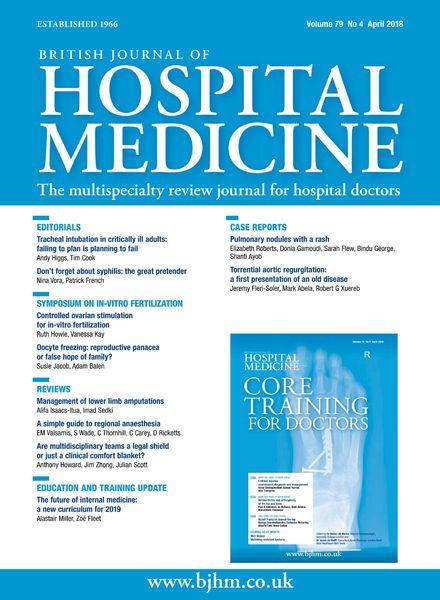British Journal of Hospital Medicine – April 2018