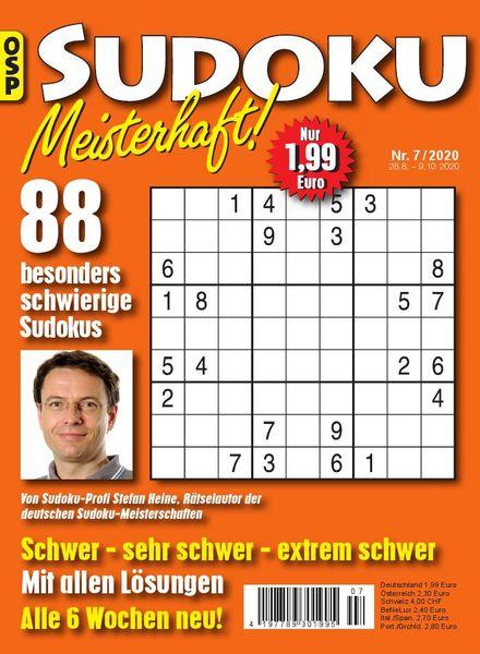 Sudoku Meisterhaft – 28 August 2020