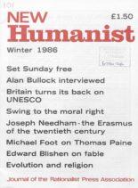 New Humanist – Winter 1986