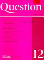 New Humanist – Question April 1979