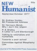 New Humanist – September-October 1977
