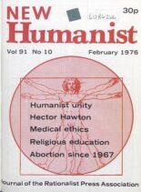 New Humanist – February 1976