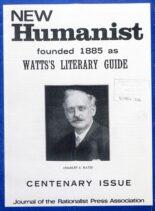 New Humanist – Autumn 1985
