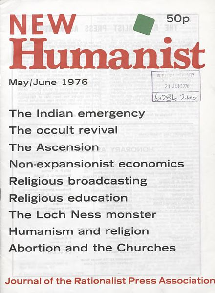 New Humanist – May-June 1976