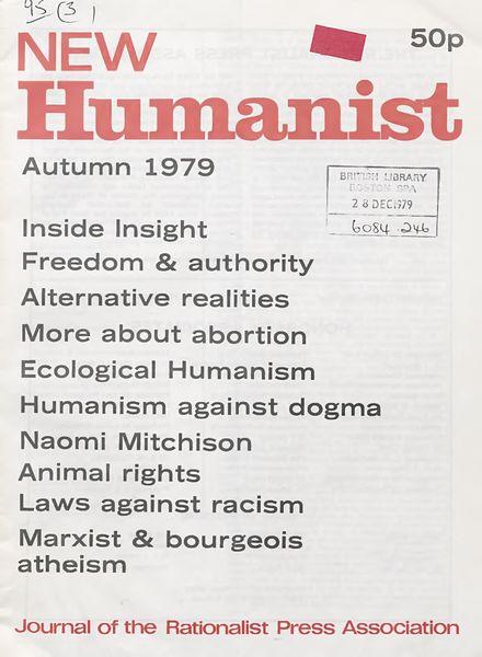 New Humanist – Autumn 1979