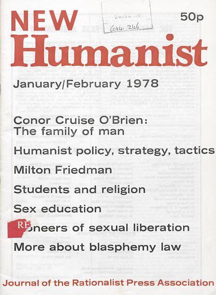 New Humanist – January-February 1978