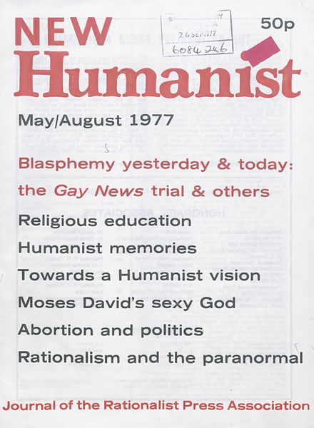 New Humanist – May-August 1977