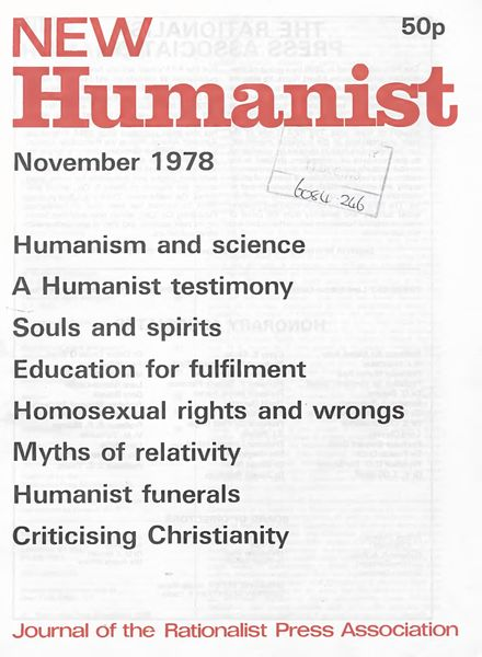 New Humanist – November 1978