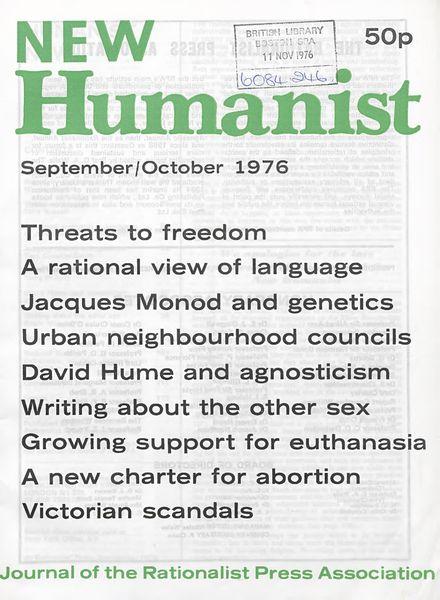 New Humanist – September-October 1976