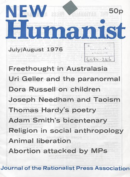 New Humanist – July-August 1976