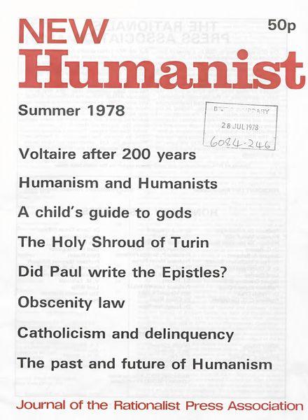 New Humanist – Summer 1978