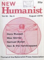 New Humanist – August 1975