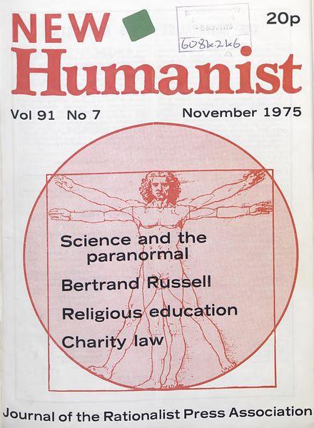 New Humanist – November 1975