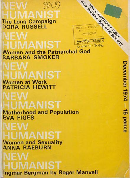 New Humanist – December 1974