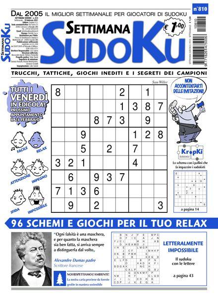 Settimana Sudoku – 17 febbraio 2021