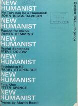 New Humanist – October 1974