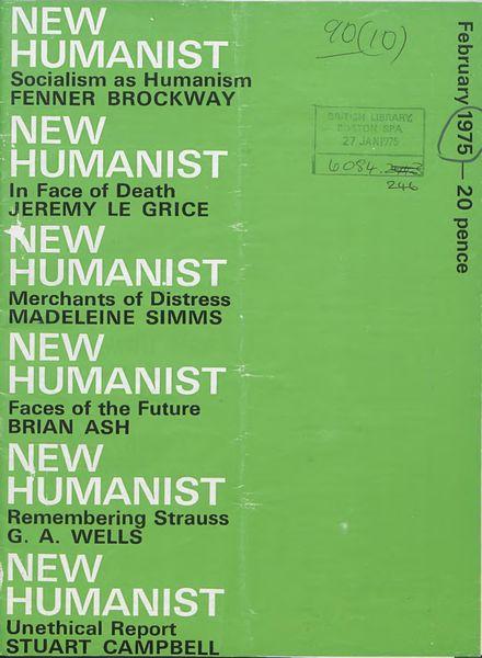 New Humanist – February 1975