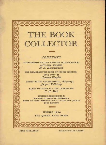 The Book Collector – Summer 1954