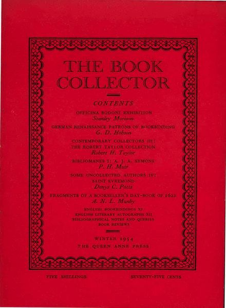 The Book Collector – Winter 1954